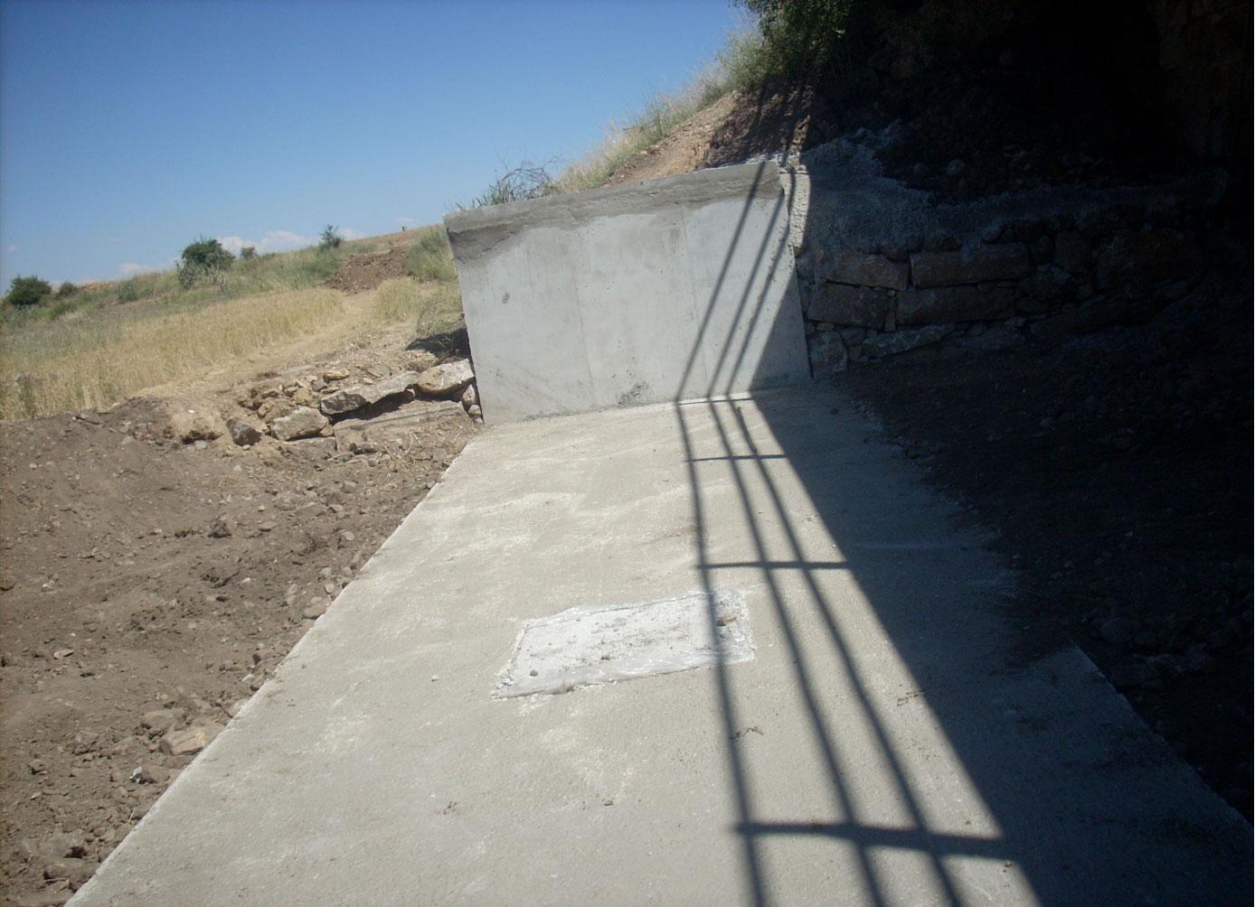 Obras de nueva estación de Aforos, río Gallo, T-M. Orihuela del Tremendal (Teruel)