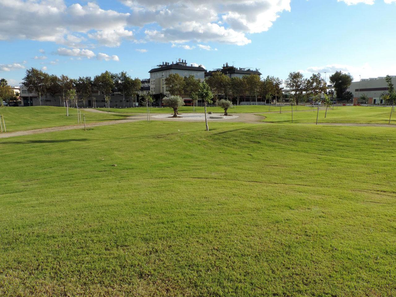 Obras de ampliación del Parque Guadaíra