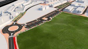 Obras del plan especial de adaptación de accesos al casco central de Mejorada del Campo