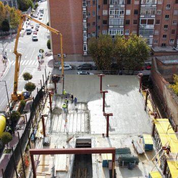 Obras para la construcción del Nuevo Edificio de Oficinas de la Seguridad Social en Valladolid