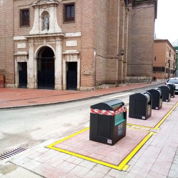Obra isla contenedores Alcalá de Henares