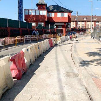 Obra pasarela peatonal en Paseo del Tomillarón Las Rozas