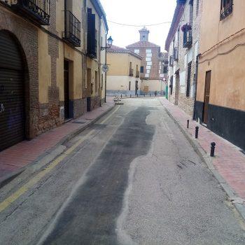 Obra saneamiento Alcalá de Henares
